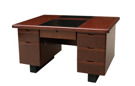 【南荣家具】办公桌NRB1403 贴木皮油漆桌写字桌单人位1.4米
