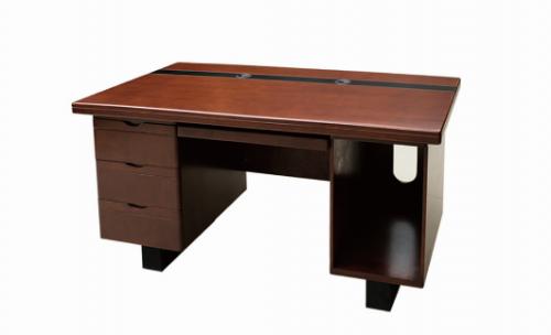 【南荣家具】办公桌NRB1405 贴木皮油漆桌写字桌单人位1.4米