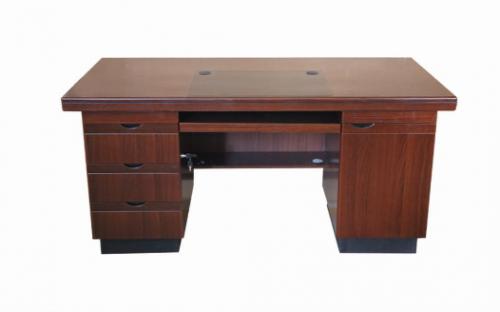 【南荣家具】办公桌NR1605 木纹色油漆桌写字桌单人位1.6米