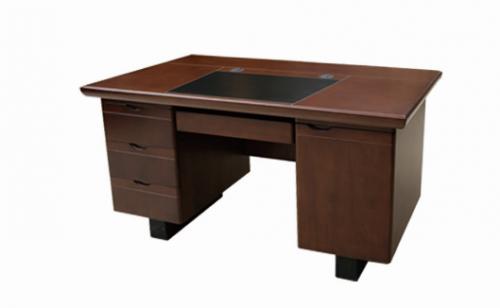 【南荣家具】办公桌NRB1208 木纹色油漆桌写字桌单人位1.2米