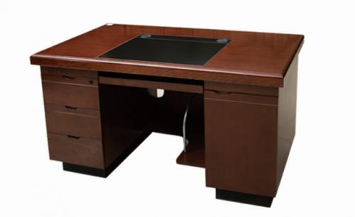【南荣家具】办公桌NRB1615 贴木皮油漆桌写字桌电脑桌单人位1.6米