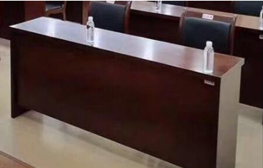 【南荣家具】办公桌NR111贴木皮油漆桌写字桌会议桌1.8米