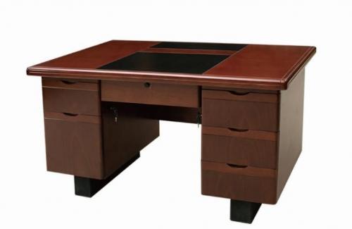 【南荣家具】办公桌NRB1203-1 木纹色油漆桌写字桌单人位 1.2米