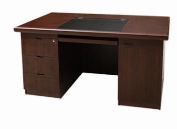 【南荣家具】办公桌NR1417 木纹色油漆桌写字桌单人位 1.4米