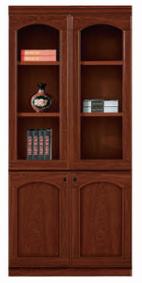【南荣家具】办公家具油漆书柜木质办公文件柜贴实木皮书柜落地柜档案柜资料柜