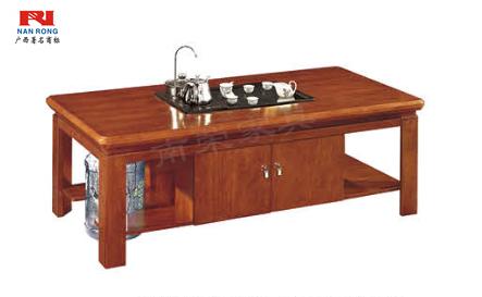 【南荣家具】茶几NR-GS-D0414办公家具实木油漆茶几 多功能茶具 茶桌 功夫茶几