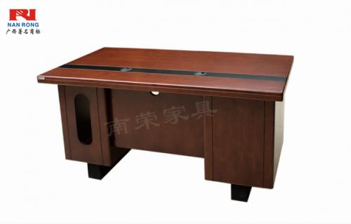 【南荣家具】办公桌NRB1405 木纹色油漆桌写字桌单人位 1.4米