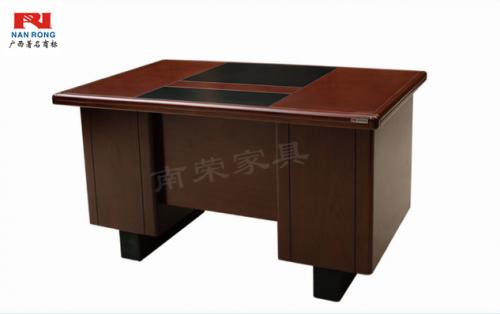 【南荣家具】办公桌NRB1403木纹色油漆桌写字桌单人位 1.4米