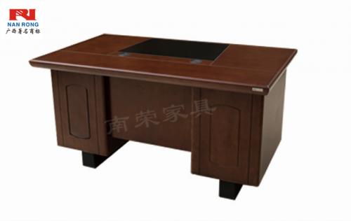 【南荣家具】办公桌NRB1408木纹色油漆桌写字桌单人位 1.4米