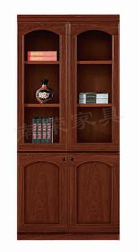 【南荣家具】精品文件柜NR-2102简约现代办公室柜子木质资料档案柜油漆大气玻璃门书柜