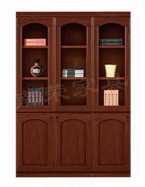 【南荣家具】精品文件柜NR-2104简约现代办公室柜子木质资料档案柜油漆大气玻璃门书柜