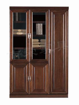【南荣家具】精品文件柜NR-2193简约现代办公室柜子木质资料档案柜油漆大气玻璃门书柜