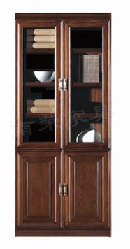 【南荣家具】精品文件柜NR-2192简约现代办公室柜子木质资料档案柜油漆大气玻璃门书柜
