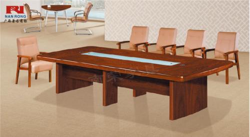 【南荣家具】办公桌NR-5530油漆会议桌多人开会桌会议桌大型会议桌油漆木制桌