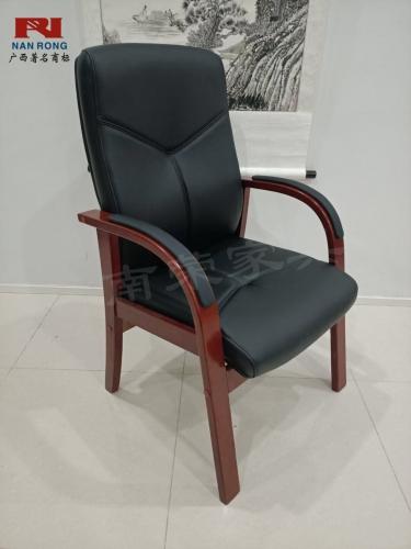 【南荣家具】办公椅NR-ZSX-026油漆会议椅待客椅实木椅西皮椅