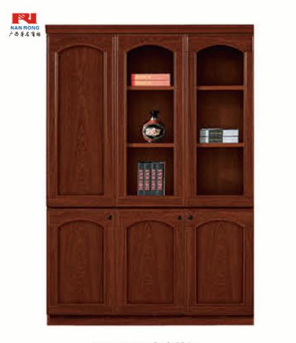 【南荣家具】办公家具油漆书柜三门木质文件柜贴实木皮文件柜落地柜档案柜资料柜