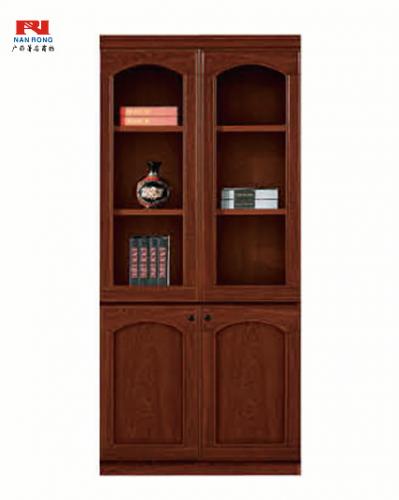 【南荣家具】文件柜NR-2102-1办公家具油漆书柜两门木质木纹色文件柜落地柜档案柜资料柜