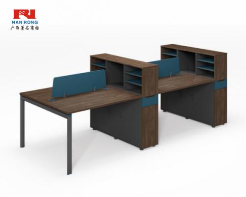 【南荣家具】职员桌NR-GNW-66B2604办公桌椅办公室桌子四人位多人位员工桌简约现代