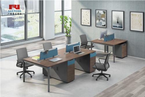 【南荣家具】职员桌NR-GNW-66B2402办公桌椅办公室桌子四人位多人位员工桌简约现代