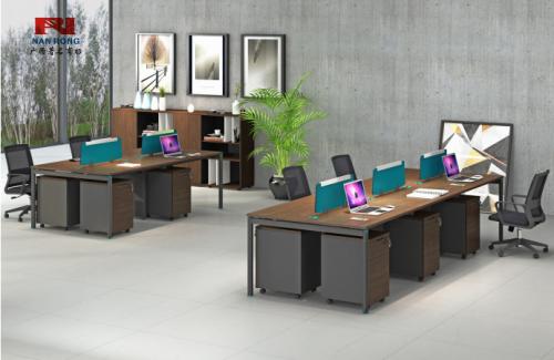 【南荣家具】职员桌NR-GNW-66B2401办公桌椅办公室桌子四人位多人位员工桌简约现代