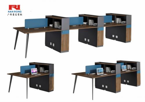【南荣家具】职员桌NR-GNW-66B1506办公桌椅办公室桌子两人位多人位员工桌简约现代
