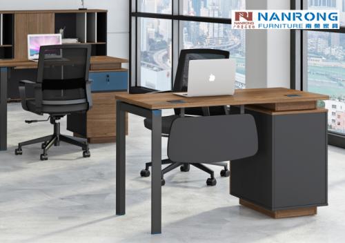 【南荣家具】职员桌NR-GNW-66B1211办公桌椅办公室桌子单人位员工桌简约现代