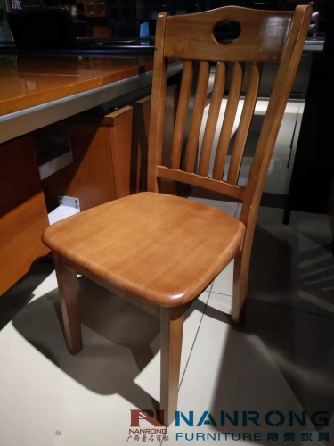 【南荣家具】办公椅NRH7411实木椅子靠背凳子家用餐椅简约餐厅酒店饭店用餐桌椅麻将书桌椅