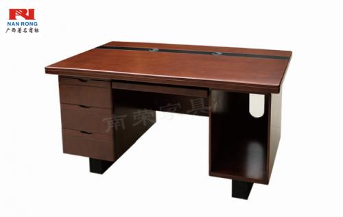 【南荣家具】办公桌NRB1405-1 木纹色油漆桌写字桌单人位1.4米